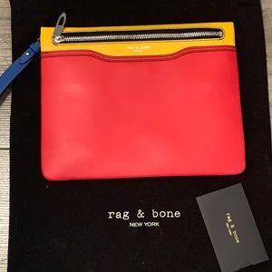 Rag & Bone color block envelope clutch